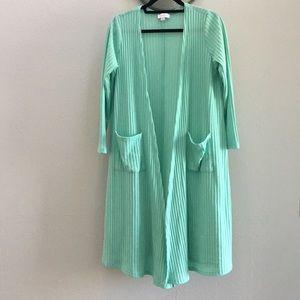 LuLaRoe Sarah Mint Green Sweater Material-medium